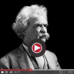 mark twain photo with video controls